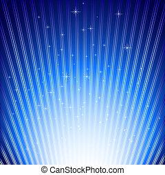 funkelnde Sterne auf blauem Licht platzieren Hintergrund