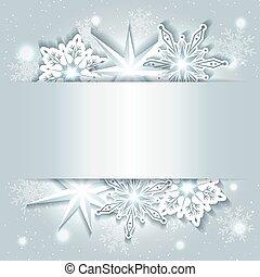 funkelnde Weihnachten mit Schneeflocke.