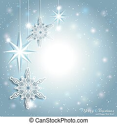 funkelnde Weihnachtssterne Schneeflocke Hintergrund.