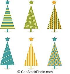 Funky-Retro-Weihnachtsbaum-Design