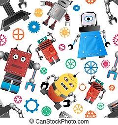 Funky Roboter Hintergrund