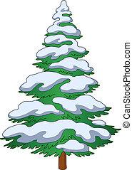 Fur-tree mit Schnee