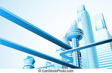 Futuristische Stadtentwicklung