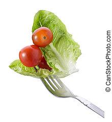 Gabel mit Gemüse