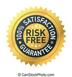 garantie, risk-free, etikett