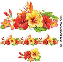 Garland der tropischen Blumen