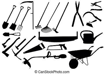 Gartenwerkzeugsammlung
