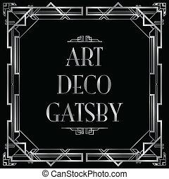 Gatsby Art Deco Hintergrund.