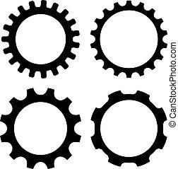 Gear Wheel Icon.