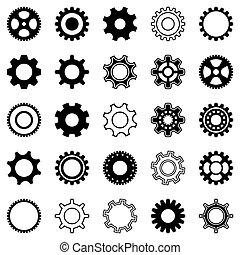 Gear Wheel Icons.