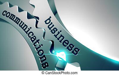 gears., kommunikation, metall, geschaeftswelt