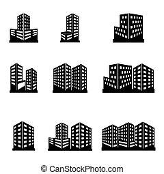 Gebäude-Ikonen.
