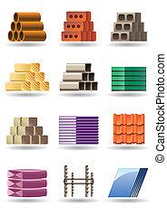 gebäude, &, konstruktionen, materialien