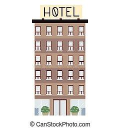 gebäude, städtisch, hotel