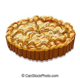 gebacken, torte, apfel