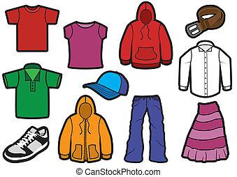 Geballte Kleidungsssymbol.