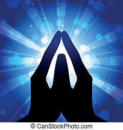 Gebet - Vektor illustriert