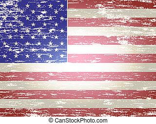 Geblendete amerikanische Flagge
