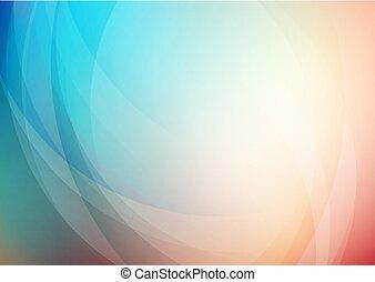 gebogen, hintergrund, abstrakt, farben