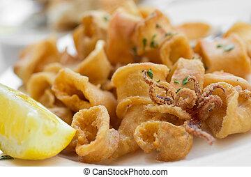 Gebratene Calamari