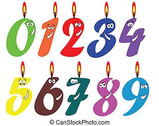 Geburtstags-Set. Kerzen