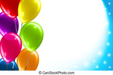 Geburtstagsballon-Hintergrund