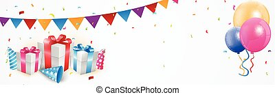 Geburtstagsfeier Banner.