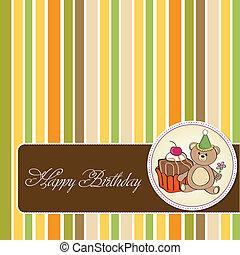 Geburtstagsgrußkarte mit Kuchen