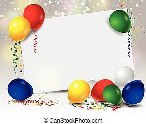 Geburtstagshintergrund mit Ballons.