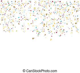 Geburtstagshintergrund mit Konfetti.