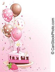 Geburtstagskuchen mit Ballons
