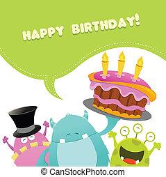 Geburtstagsmonster-Karte