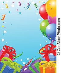 Geburtstagsparty-Karte