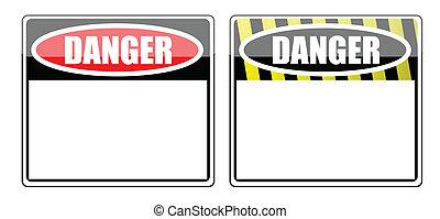 Gefährliches Schild