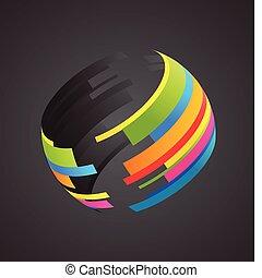Gefärbte Globe-Ikone