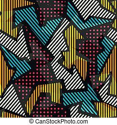 Gefärbtes geometrisches nahtloses Muster