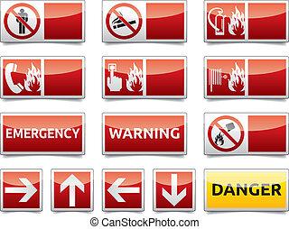 Gefahrenwarnzeichen Mini-Set