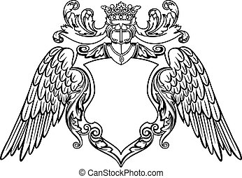 Geflügeltes Emblem
