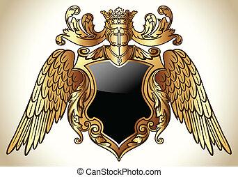 Geflügeltes Emblem Gold