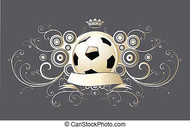 Geflügeltes Fußball-Emblem