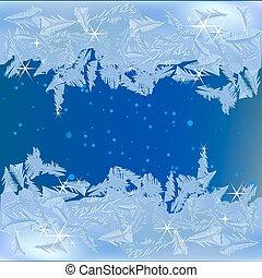 Gefrorener Frost am Fenster