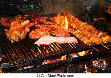 gegrillt, köstlich , grillfest, fleisch