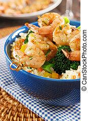 Gegrillte Shrimps.