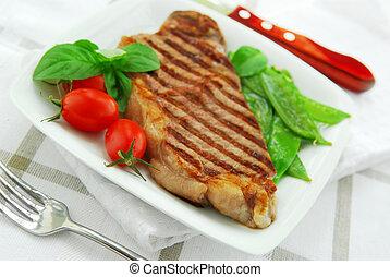 Gegrilltes Steak.