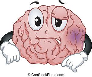 Gehirnmaskottchen.