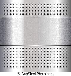 Gekratzt, auf Chrommetall-Hintergrund, 10eps