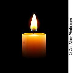 Gelbe Kerze