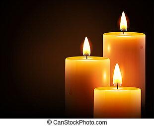 Gelbe Kerzen