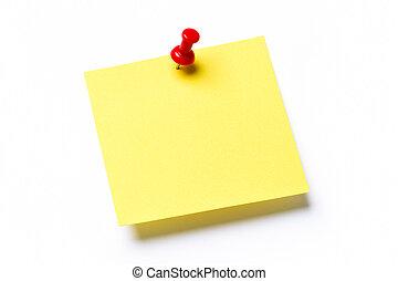Gelbe klebrige Notiz