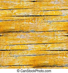 Gelbe, nahrlose Beschaffenheit alter Holzplanken